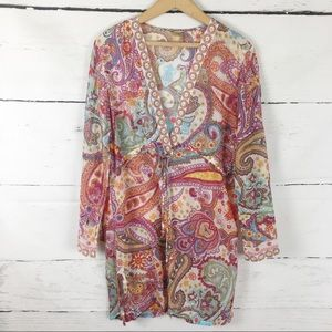 Athleta Pink Paisley Tunic Top Size L